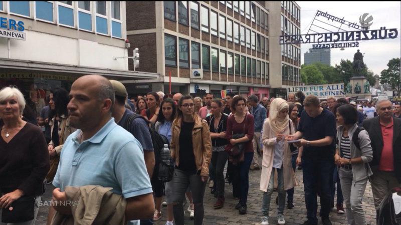 Marsch der Muslime in Köln (Foto: SAT.1 NRW)