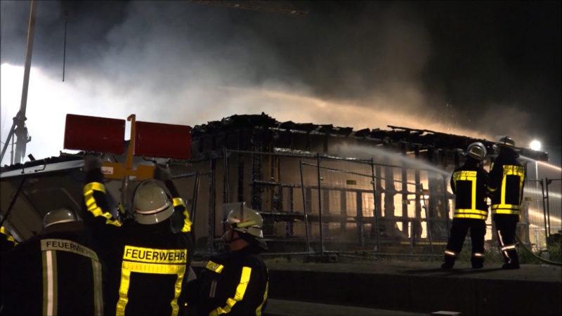 Brand im Vereinsheim des SC Halle (Foto: SAT.1 NRW)