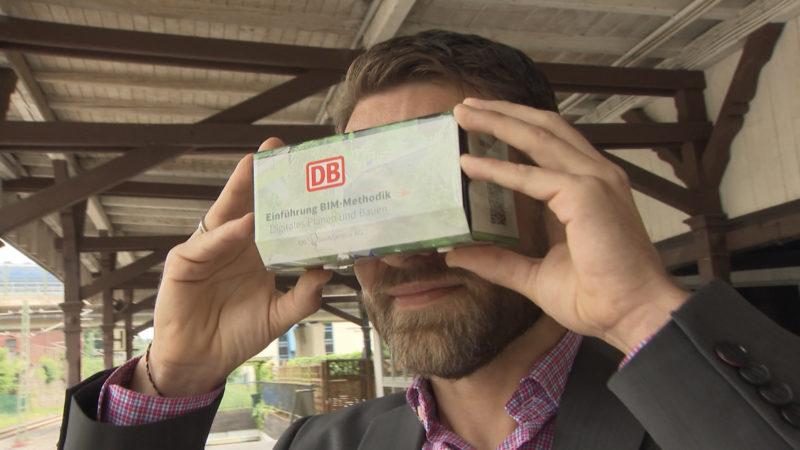 Virtual Reality Bahnhof (Foto: SAT.1 NRW)