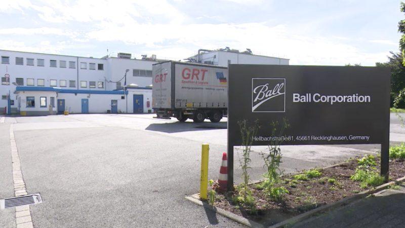 Dosenhersteller BALL stellt Produktion ein (Foto: SAT.1 NRW)