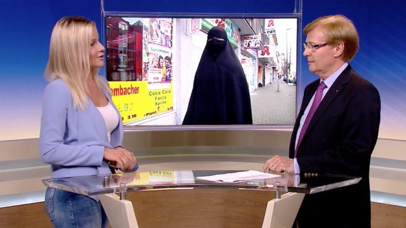 NRW-Justizminister im Studio: Nein zur Burka (Foto: SAT.1 NRW)
