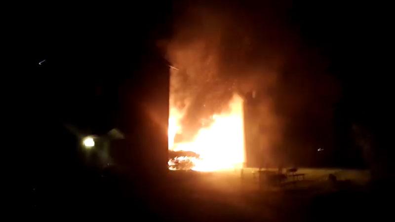 Autobrände in Bergkamen (Foto: SAT.1 NRW)