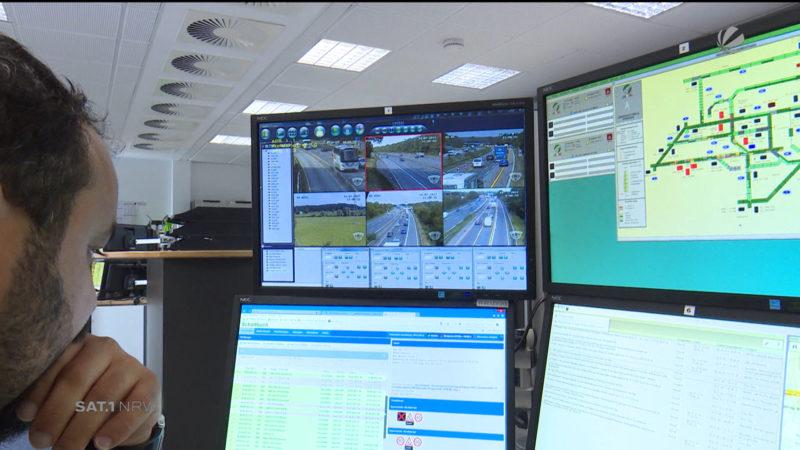 Digitale Verkehrssteuerung (Foto: SAT.1 NRW)