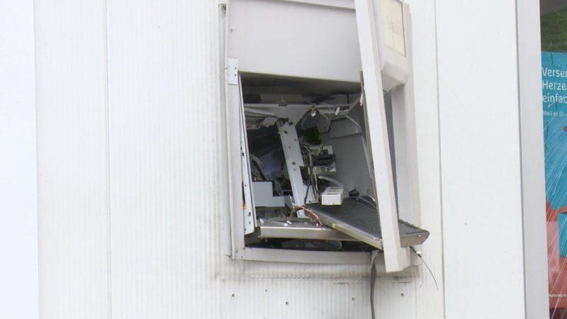 Geldautomat an Tankstelle gesprengt (Foto: SAT.1 NRW)