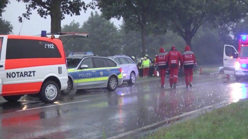 Schwerer Verkehrsunfall in Goch (Foto: SAT.1 NRW)