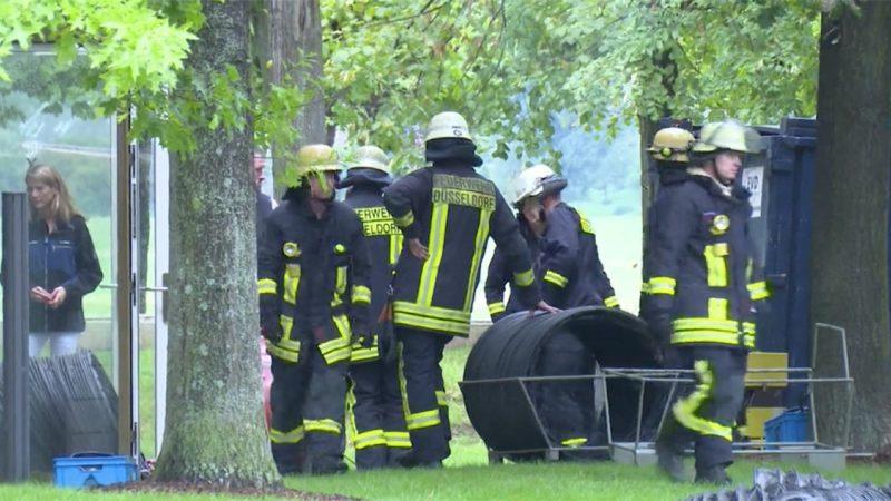 Feuer im Landtag (Foto: SAT.1 NRW)