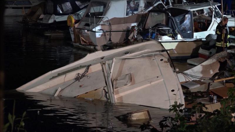 Yacht explodiert: Ursache weiterhin unklar (Foto: SAT.1 NRW)