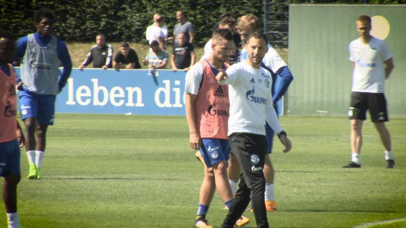 Trainingsstart mit neuem Trainer (Foto: SAT.1 NRW)