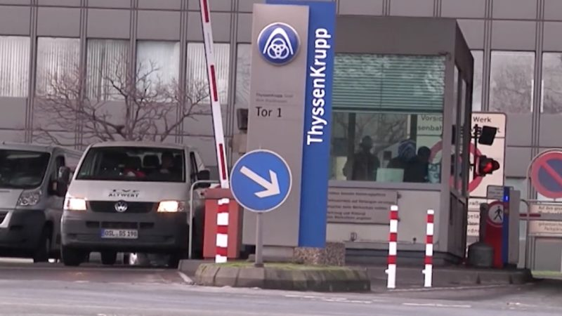 Stellenabbau bei ThyssenKrupp (Foto: SAT.1 NRW)
