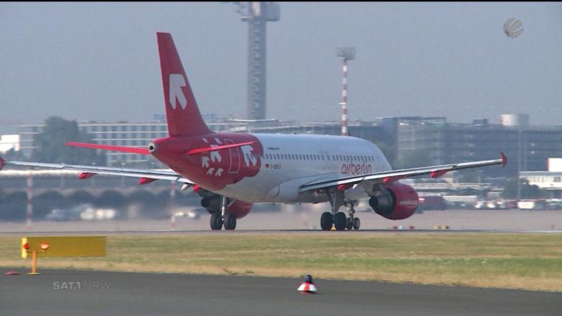 Air Berlin meldet Insolvenz an (Foto: SAT.1 NRW)