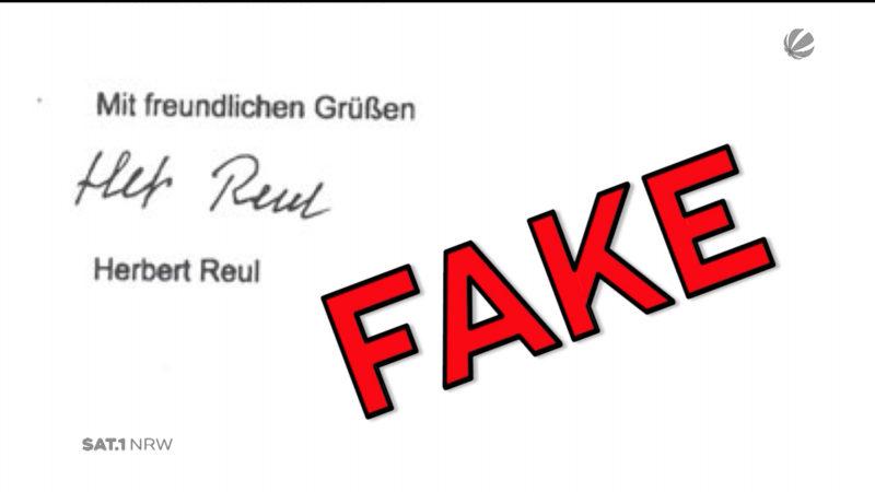 NRW-Innenminister warnt vor gefälschtem Schreiben (Foto: SAT.1 NRW)