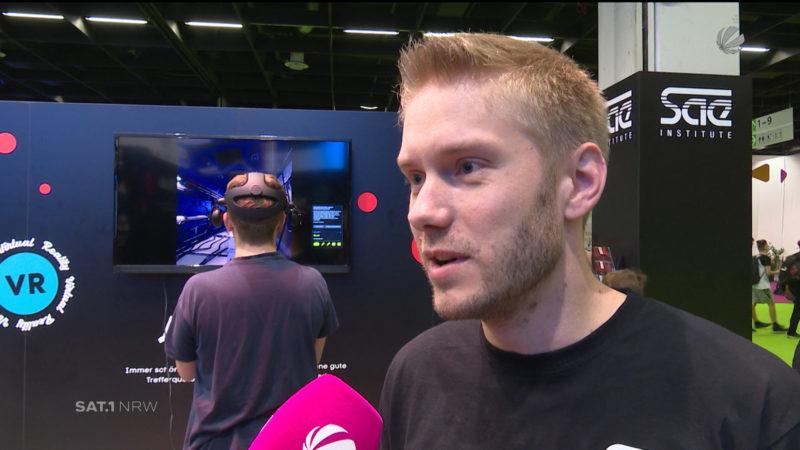 Spieleprogrammierer auf der Gamescom (Foto: SAT.1 NRW)