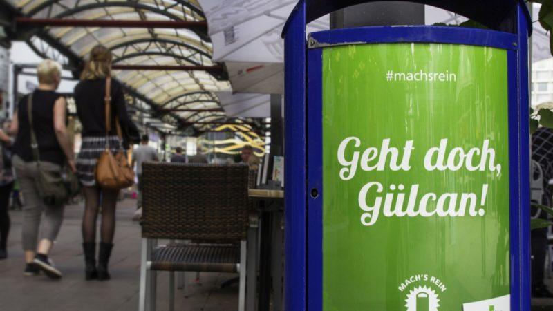 Mülleimer-Kampagne (Foto: Stadt Duisburg)