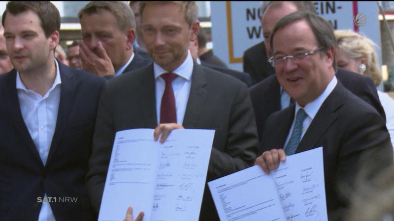 Bilanz: 100 Tage neue Landesregierung (Foto: SAT.1 NRW)