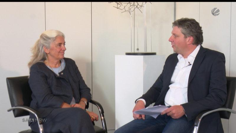Interview mit Isabel Pfeiffer-Poensgen (Foto: SAT.1 NRW)