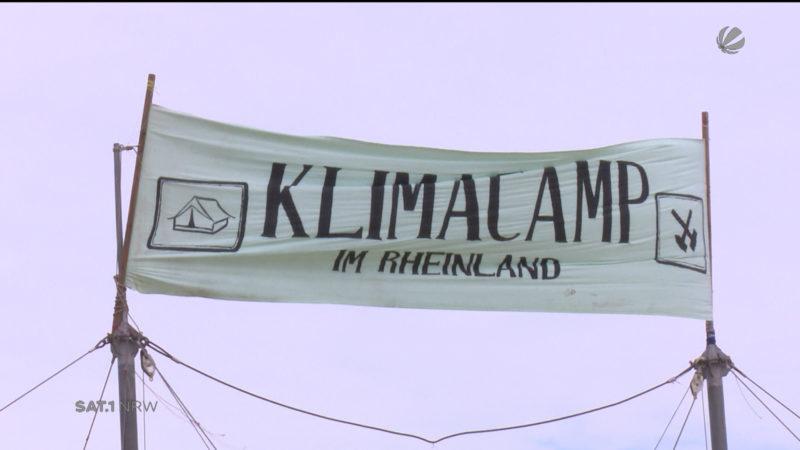 Klimacamp startet (Foto: SAT.1 NRW)
