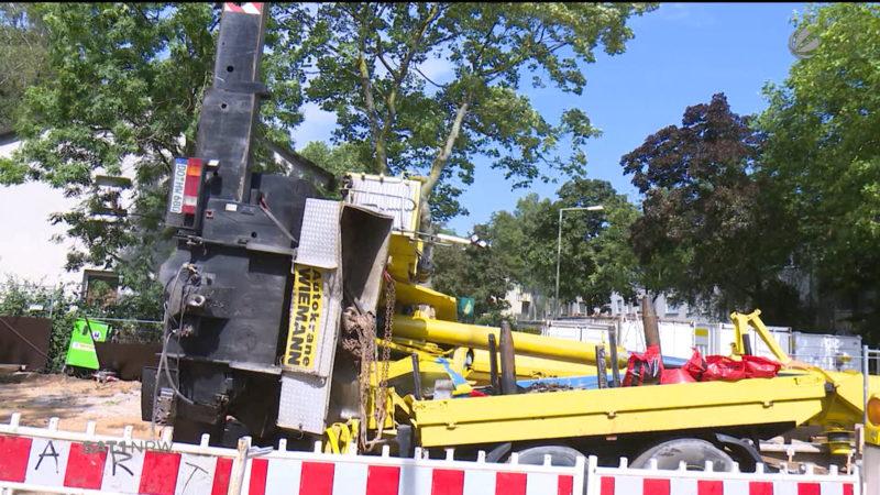 Kran-Unfall in Duisburg (Foto: SAT.1 NRW)