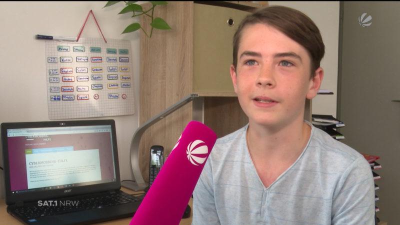 12-jähriger Schüler kämpft gegen Cyber-Mobbing (Foto: SAT.1 NRW)