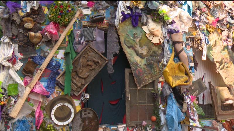 Kunstprojekt: Ein Hotel aus Müll (Foto: SAT.1 NRW)