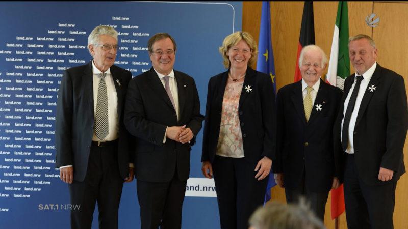 Landesorden für vier Spitzenpolitiker (Foto: SAT.1 NRW)