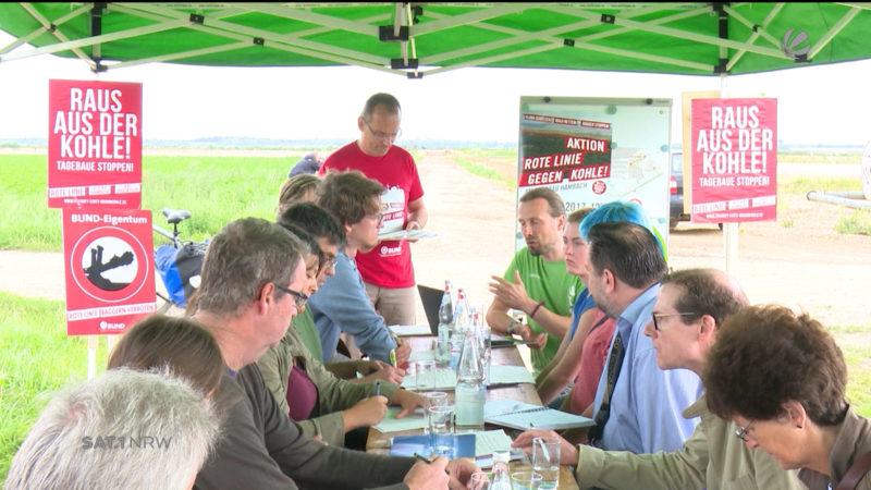 Klimacamp im Rheinland (Foto: SAT.1 NRW)