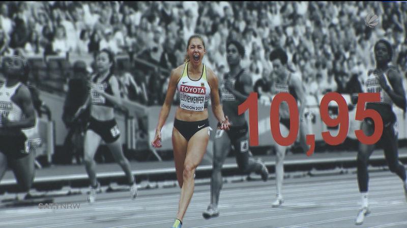 Gina Lückenkemper ist die schnellste Frau in NRW (Foto: SAT.1 NRW)