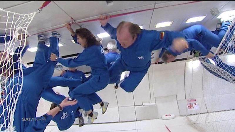Parabelflug mit Astronauten (Foto: SAT.1 NRW)