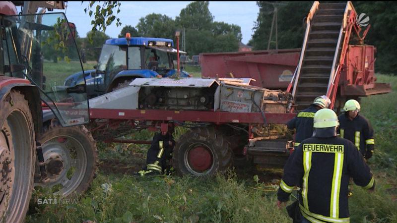 Unfall bei der Rübenernte (Foto: SAT.1 NRW)
