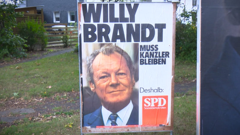 Rätsel um Willy-Brandt-Plakat (Foto: SAT.1 NRW)