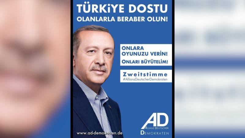 Erdogan im deutschen Wahlkampf (Foto: SAT.1 NRW)