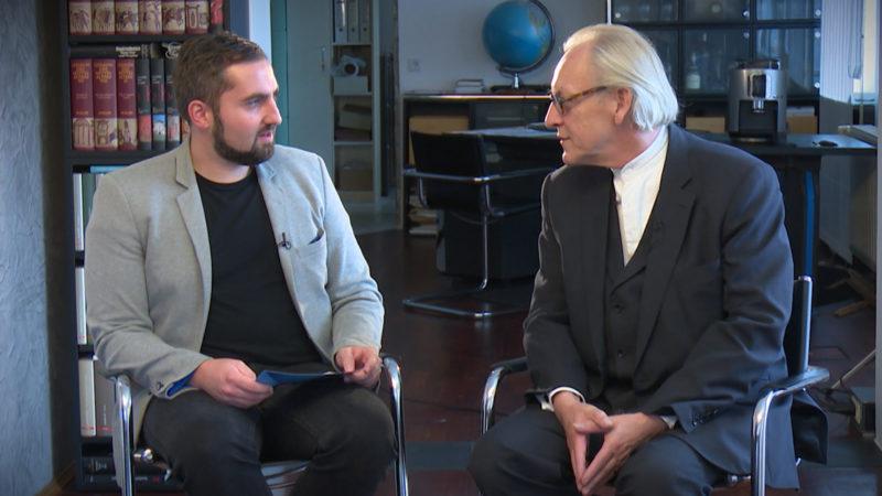 Martin Renner (AFD) im Interview (Foto: SAT.1 NRW)