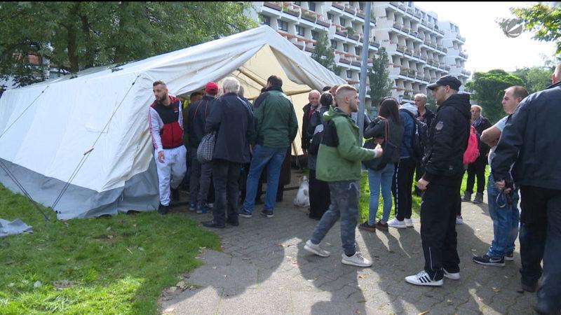 Dortmund: Hochhaus-Räumung im Hannibal II (Foto: SAT.1 NRW)