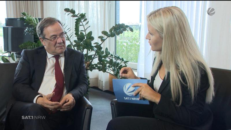 Armin Laschet (CDU) im Interview (Foto: SAT.1 NRW)