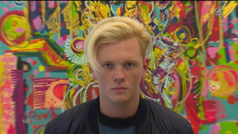 Künstler mit 19 Jahren: Leon Löwentraut (Foto: SAT.1 NRW)