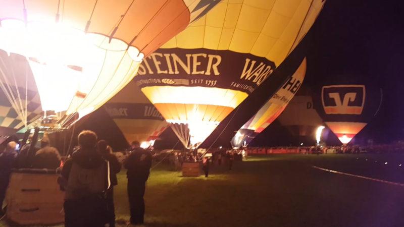 Das Ballonglühen in voller Länge (Foto: SAT.1 NRW)