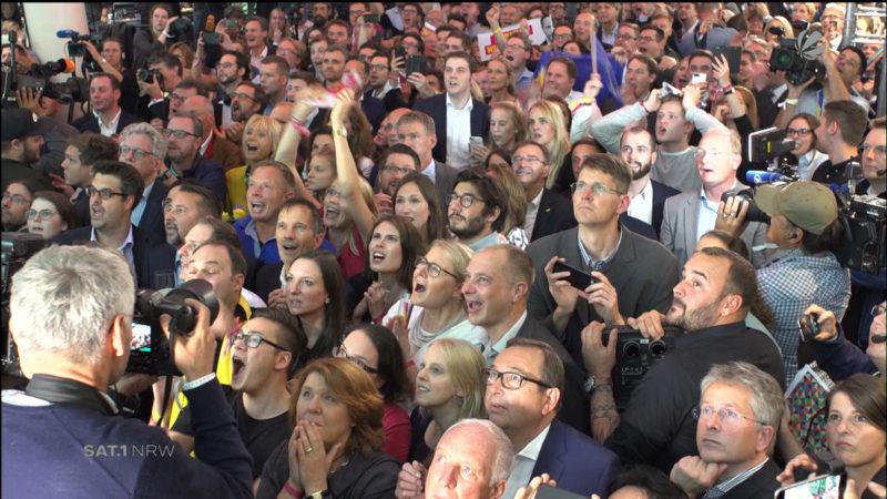 Reaktionen nach der Bundestagswahl 2017 (Foto: SAT.1 NRW)