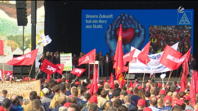 Stahl-Demo in Bochum (Foto: SAT.1 NRW)