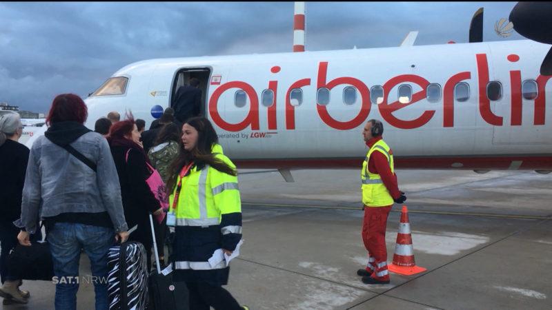 Ein letzter Flug mit Air Berlin (Foto: SAT.1 NRW)