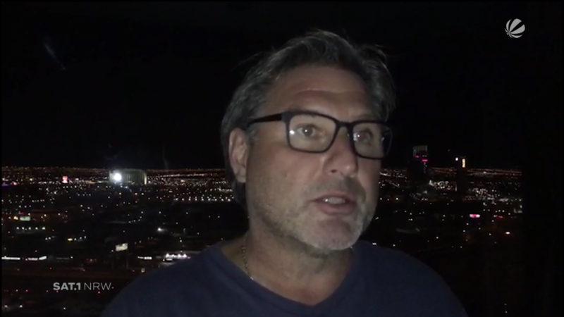 Bluttat in Las Vegas: Ein Augenzeuge berichtet (Foto: SAT.1 NRW)