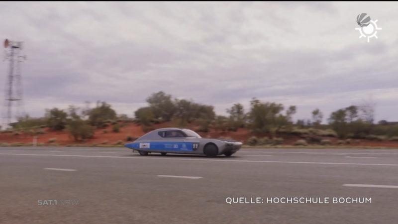 Bochumer Team räumt bei World Solar Car Challenge ab (Foto: SAT.1 NRW)