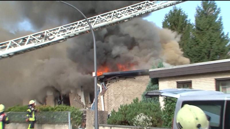 Köln: Haus explodiert (Foto: SAT.1 NRW)
