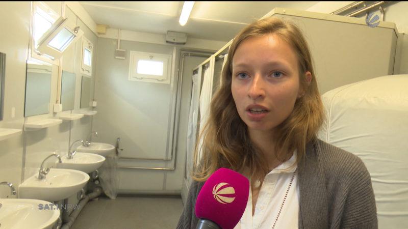 Münster: Hausbewohner müssen in Containern duschen (Foto: SAT.1 NRW)