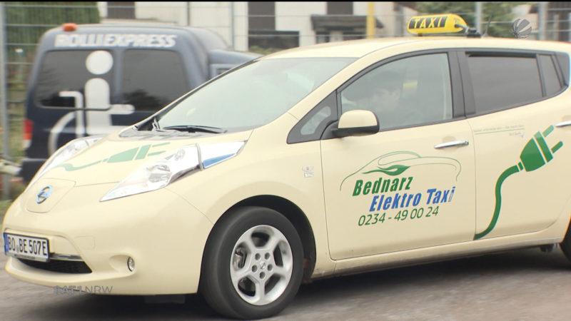 Bochumer Taxiunternehmen setzt auf Elektro (Foto: SAT.1 NRW)
