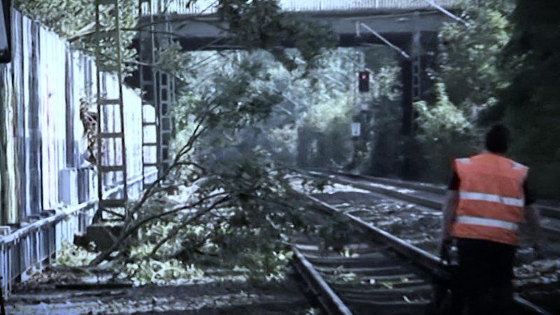 Sturm-Ärger bei der Bahn (Foto: SAT.1 NRW)