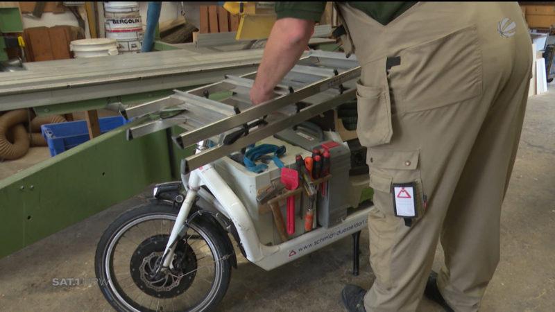 Lastenbike im Arbeitsalltag (Foto: SAT.1 NRW)