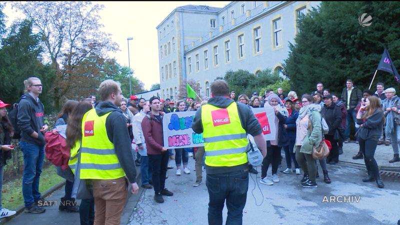 Weitere Streiks an der Uniklinik Düsseldorf (Foto: SAT.1 NRW)