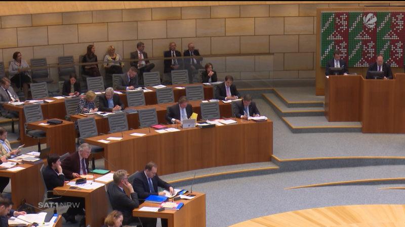 NRW-Landtag verabschiedet Nachtragshaushalt (Foto: SAT.1 NRW)