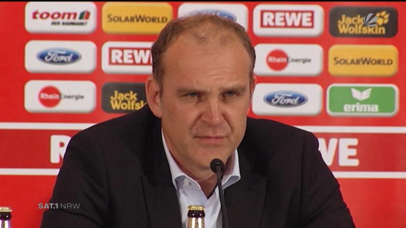 1. FC Köln trennt sich von Sportchef Schmadtke (Foto: SAT.1 NRW)