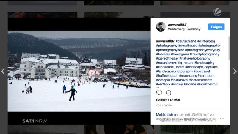 Winterberg: Auch in den sozialen Medien beliebt (Foto: SAT.1 NRW)