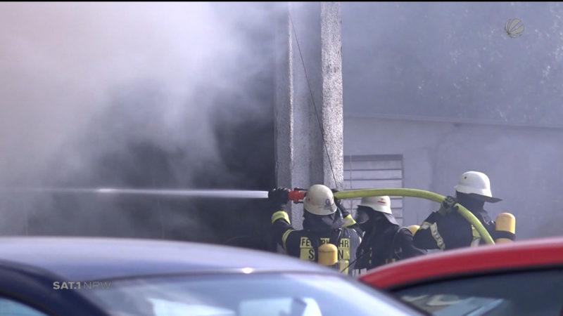Brand in Siegen (Foto: SAT.1 NRW)